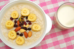Healthy cereal and soya bean milk Royalty Free Stock Photos