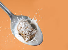 Healthy cereal splash Stock Images