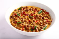 Healthy Channa masala. From Indian Cuisine.in white background Stock Image