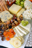 Healthy cheese and fruits plate Royalty Free Stock Photography