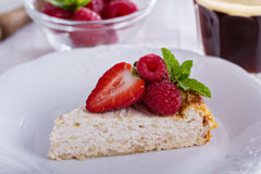 Healthy cheesecake with oats Royalty Free Stock Photo