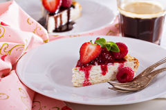 Healthy cheesecake with oats Royalty Free Stock Photos