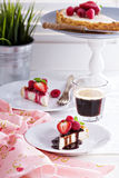 Healthy cheesecake with oats Stock Images