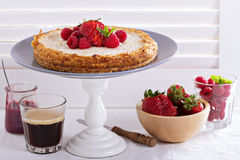 Healthy cheesecake with oats Stock Photo