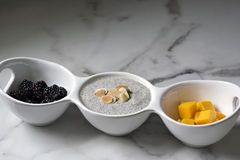 Healthy Chia Pudding with Fruit Royalty Free Stock Photos