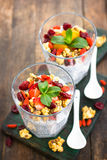 Healthy Chia seed pudding Stock Image
