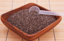Healthy Chia Seeds. A bowl of chia seeds, a healthy source of antioxidants, omega 3 and fiber Stock Photo