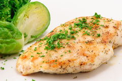 Healthy chicken. Healthy  organic chicken breast and vegetables Stock Photos