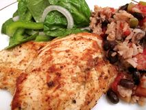 Healthy Chicken Breast Dinner Royalty Free Stock Photos