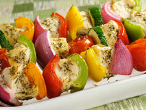 Healthy Chicken Kabobs Royalty Free Stock Photo