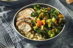 Healthy Chicken and Quinoa Bowl Stock Photography