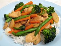Healthy Chicken Stir Fry Royalty Free Stock Images