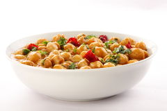 Healthy chickpea curry dish Royalty Free Stock Photography