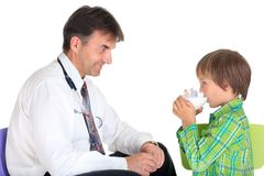 Healthy child with doctor Royalty Free Stock Photos