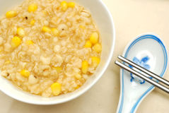 Healthy Chinese brown rice porridge Stock Photos
