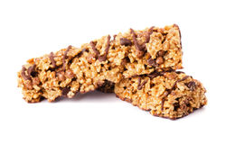 Healthy chocolate cereal bar Royalty Free Stock Photo