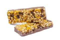 Healthy chocolate cereal stick stock photo