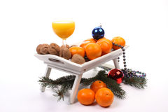Healthy Christmas royalty free stock photography