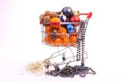 Healthy Christmas shopping Royalty Free Stock Photo