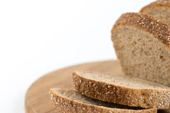 Healthy chrono bread isolated over white background.  Royalty Free Stock Photography