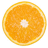 Healthy citrus fruity food. Slice of fresh orange on a white isolated Stock Images