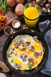 Healthy and classic brunch, simple scrambeld eggs Stock Images