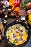 Healthy and classic brunch, simple scrambeld eggs Stock Image