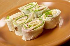 Healthy club sandwich pita bread roll Royalty Free Stock Photos