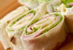 Healthy club sandwich pita bread Royalty Free Stock Images