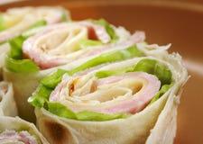 Healthy club sandwich pita bread roll Royalty Free Stock Photo