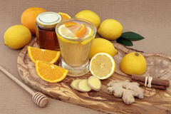 Healthy Cold Cure Drink Royalty Free Stock Photography
