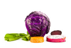 Healthy color,fruits and vegetables Royalty Free Stock Photo