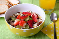 Healthy colorful breakfast Stock Images