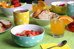 Healthy colorful breakfast Royalty Free Stock Images