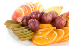 Healthy combination of fresh fruits Royalty Free Stock Photography
