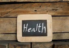 Healthy concept on blackboard Stock Photos