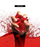 Healthy concept,Heart shape made from boxing glove Royalty Free Stock Image