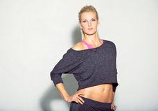 Healthy and Confident Fitness Girl Royalty Free Stock Image