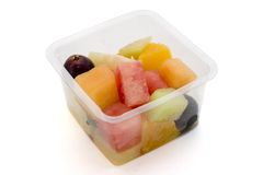 Healthy container of fruit Stock Image