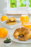 Healthy continental breakfast Royalty Free Stock Photos