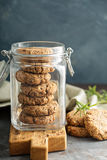 Healthy cookies in a glass jar Royalty Free Stock Photo