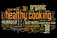 Healthy cooking stock illustration