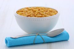 Healthy corn flakes breakfast Stock Images