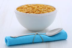 Healthy corn flakes breakfast Stock Photography