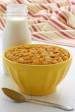 Healthy corn flakes breakfast Stock Image