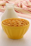 Healthy corn flakes breakfast Royalty Free Stock Image