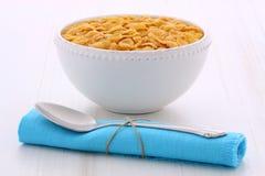 Healthy corn flakes breakfast Royalty Free Stock Photos