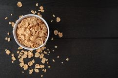 Healthy Corn Flakes with milk for Breakfast on table Royalty Free Stock Images
