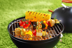 Corncob en brochette Stock Photography