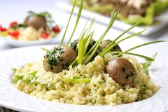 Healthy couscous dish Royalty Free Stock Photos